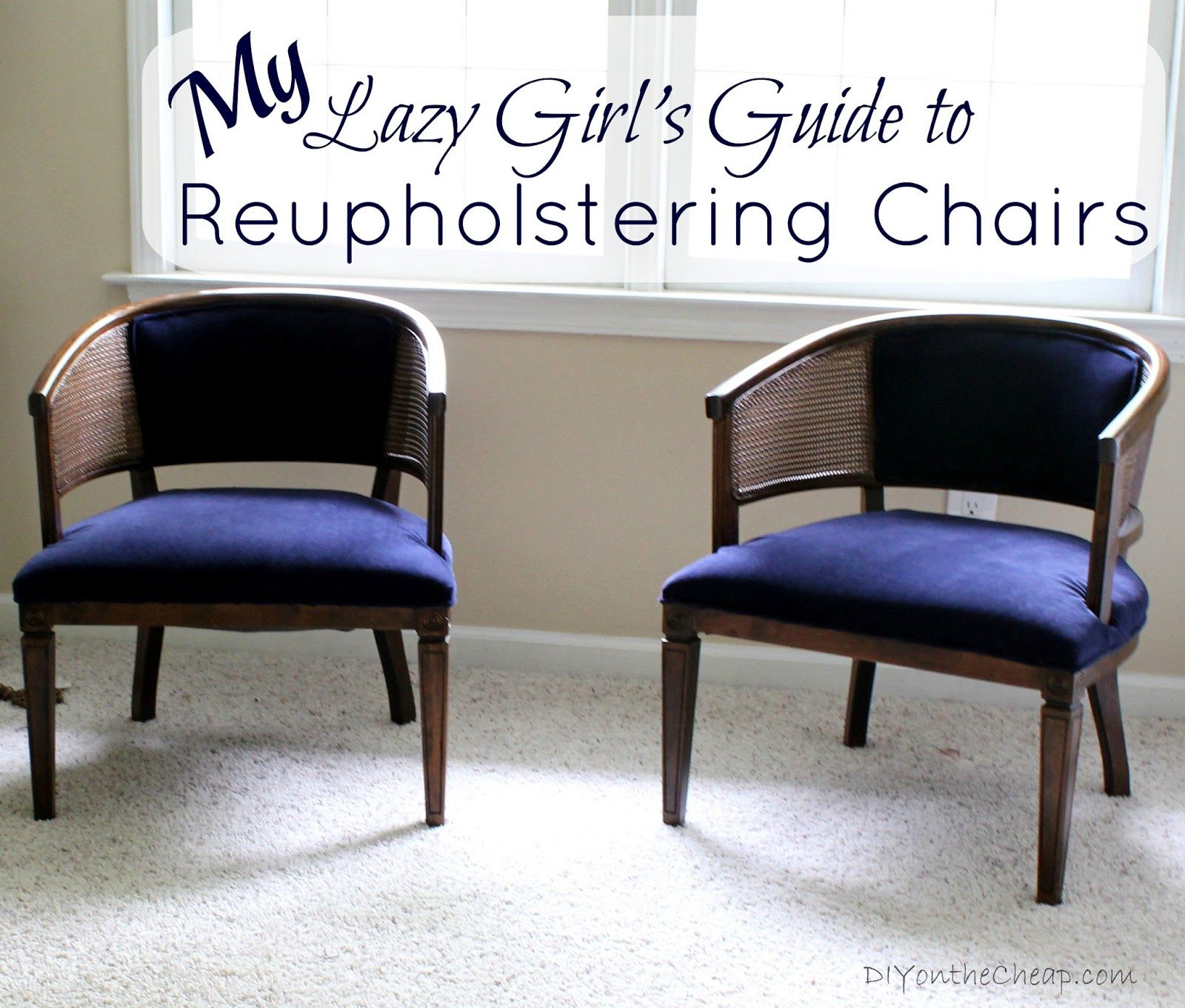 reupholster sofa south london high back leather corner lazy girls guide to reupholstering chairs tutorial via