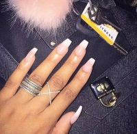 Matte pastel peach stiletto nails, Nail designs, Nail art ...