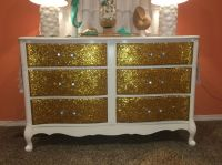 Diy glitter dresser    centerpieces   Pinterest   Dresser ...