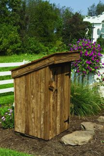 Amish Yard Outhouse Well Cover