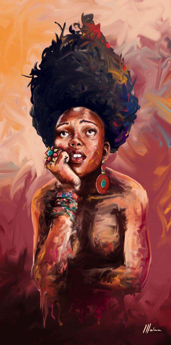 Sister Anxious Black Art Natural Hair And African