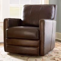 Leather Swivel Chair, Custom Leather Home Office Desk ...
