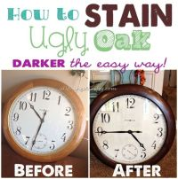 How to Stain UGLY Oak Wood Darker {easily} | Dark, Woods ...