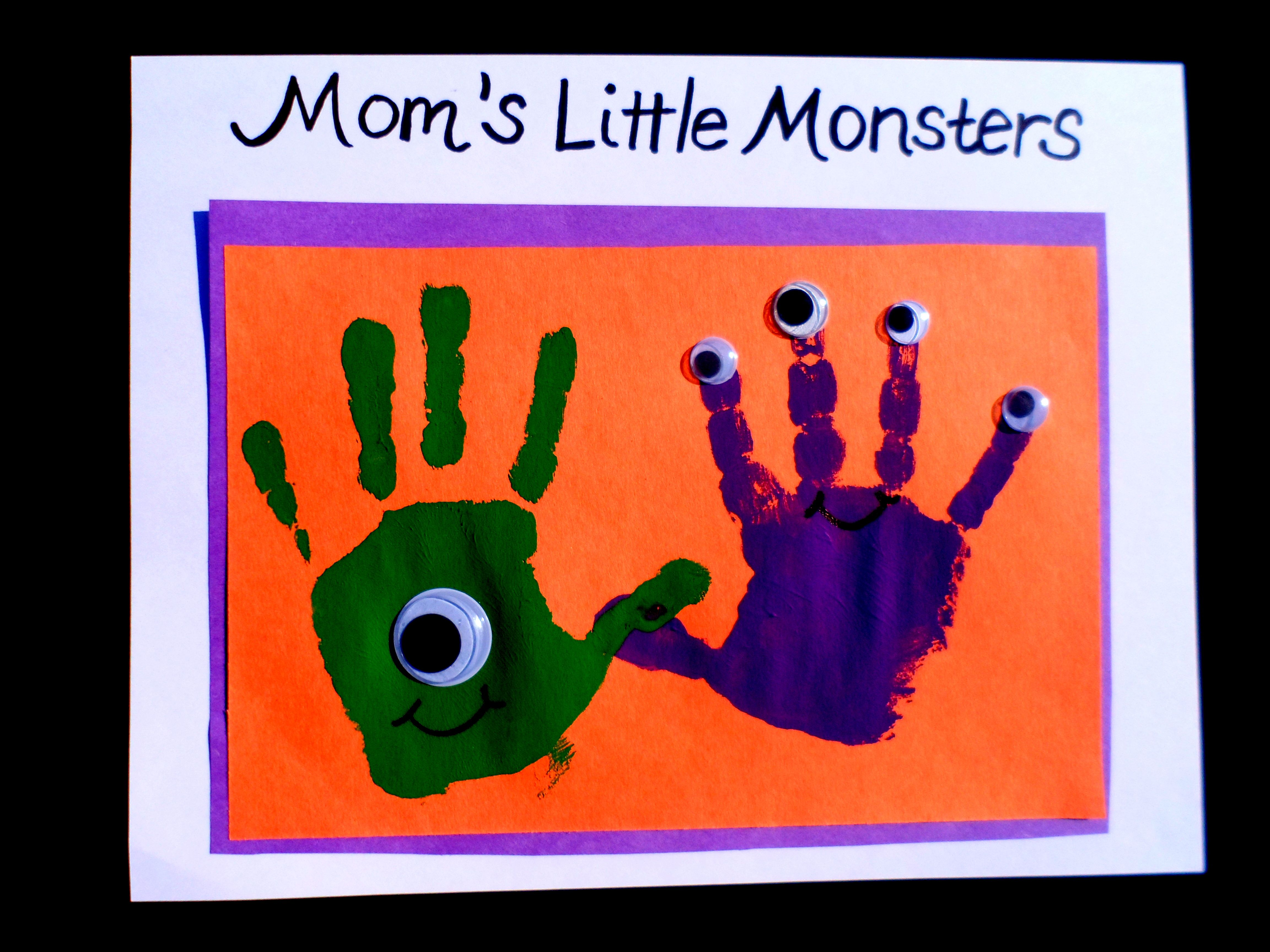 Easy Halloween Crafts Handprint And Footprint Art
