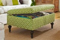 How to Build a Storage Ottoman | Ottomans, Plywood and Storage