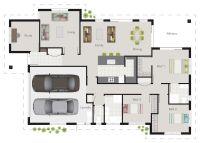 G.J. Gardner Wright plan. 3 bedroom floor plan, with study ...