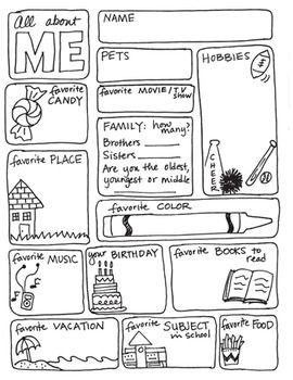 Best 25 All about me worksheet ideas on Pinterest  About me activities Esl first day