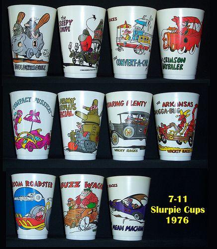 Wacky Races 711 Slurpee Cupsnow these are vintage