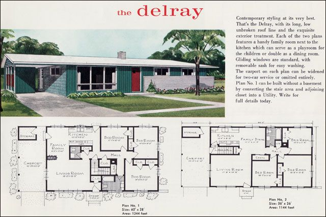 Mid Century Modern House Plans Mid Century Modern Ranch The