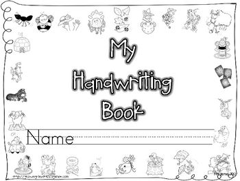 Handwriting for Kindergarten on Pinterest