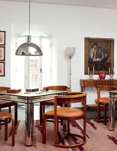 Carla fendi   eclectic roman apartment joe colombo card tables from furnish the bridge room also in rome highlights her provocative rh za pinterest