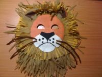 Jungle themed paper plate lion mask | Craft crafts ...