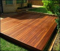 Simple Floating Deck Plans | fire pit | Pinterest ...