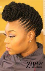 flat twist mohawk hairstyle fade