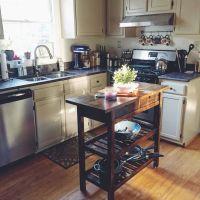 FRHJA Kitchen cart | IKEA HACK DIY stain project ...
