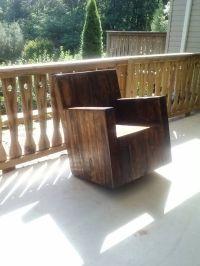 Pallet rocking chair my husband made. | Projets  essayer ...