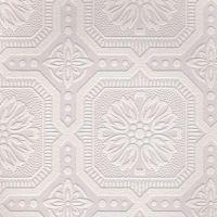 White Paintable Wallpaper | White wallpaper, Ceiling tiles ...
