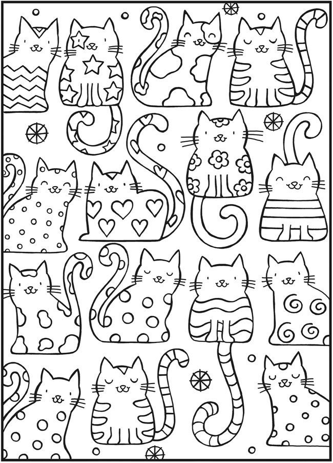 Coloring: SPARK Up the Cats with this Cool Cats Coloring