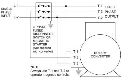 Rotary Phase Converter Connection Diagram Electrical Concepts