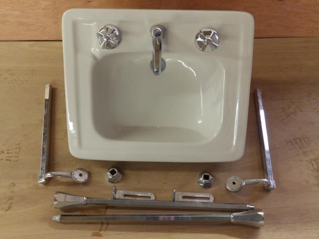 white porcelain kitchen sink aid pro line vintage bathroom chrome brass legs