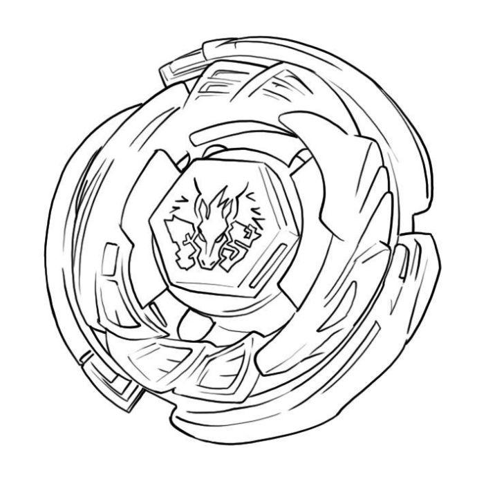 Pegasus Beyblade Anime Coloring Pages For Kids Printable Free