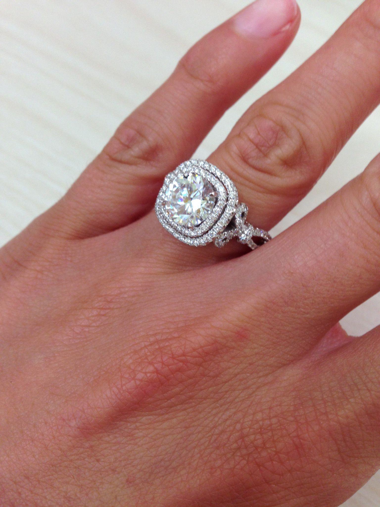 Kirk Kara Pirouetta Double Halo Diamond Engagement Ring
