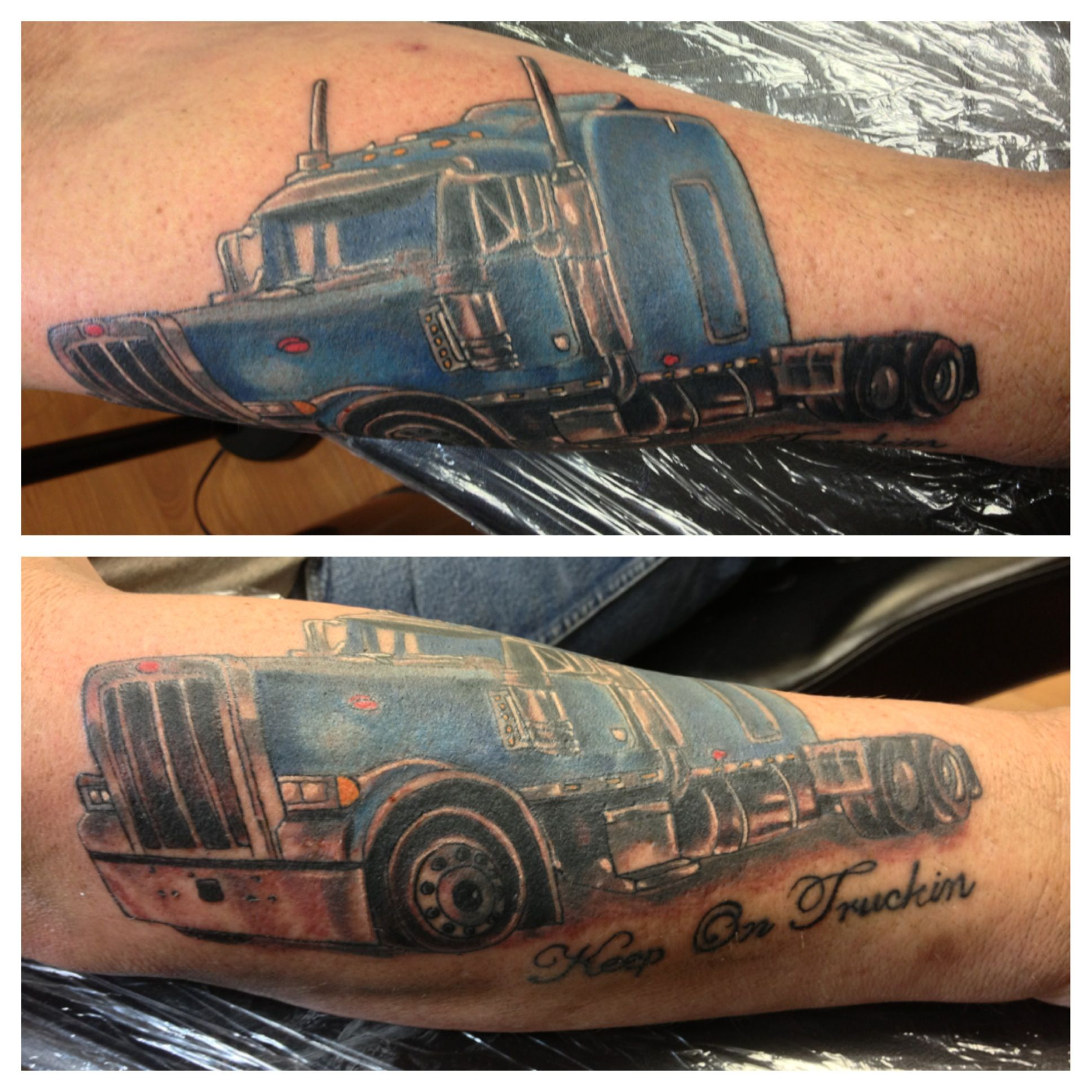 Tractor Trailer Tattoo I Did Today  Tattoos I Have Done