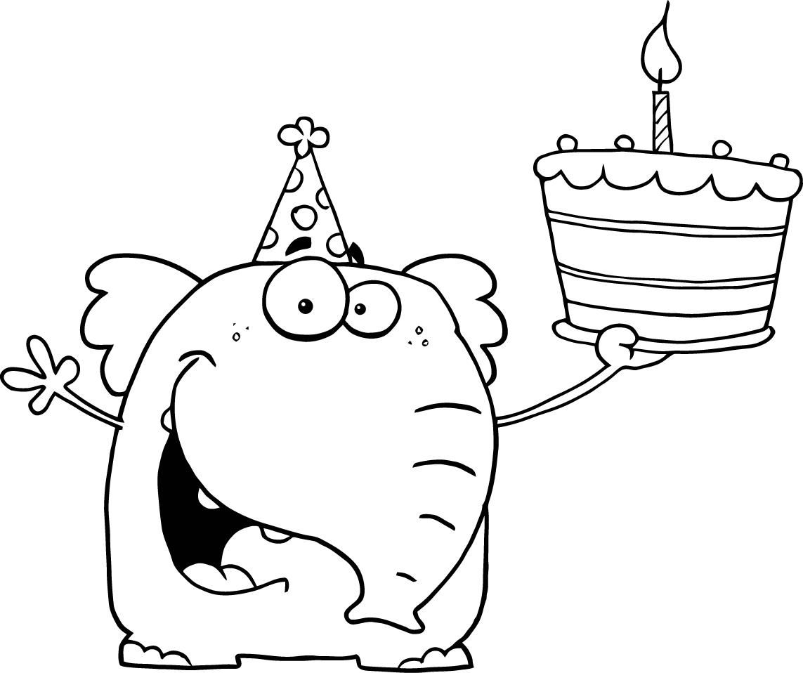 Happy Birthday Coloring Pages For Preschoolers Birthday Coloring