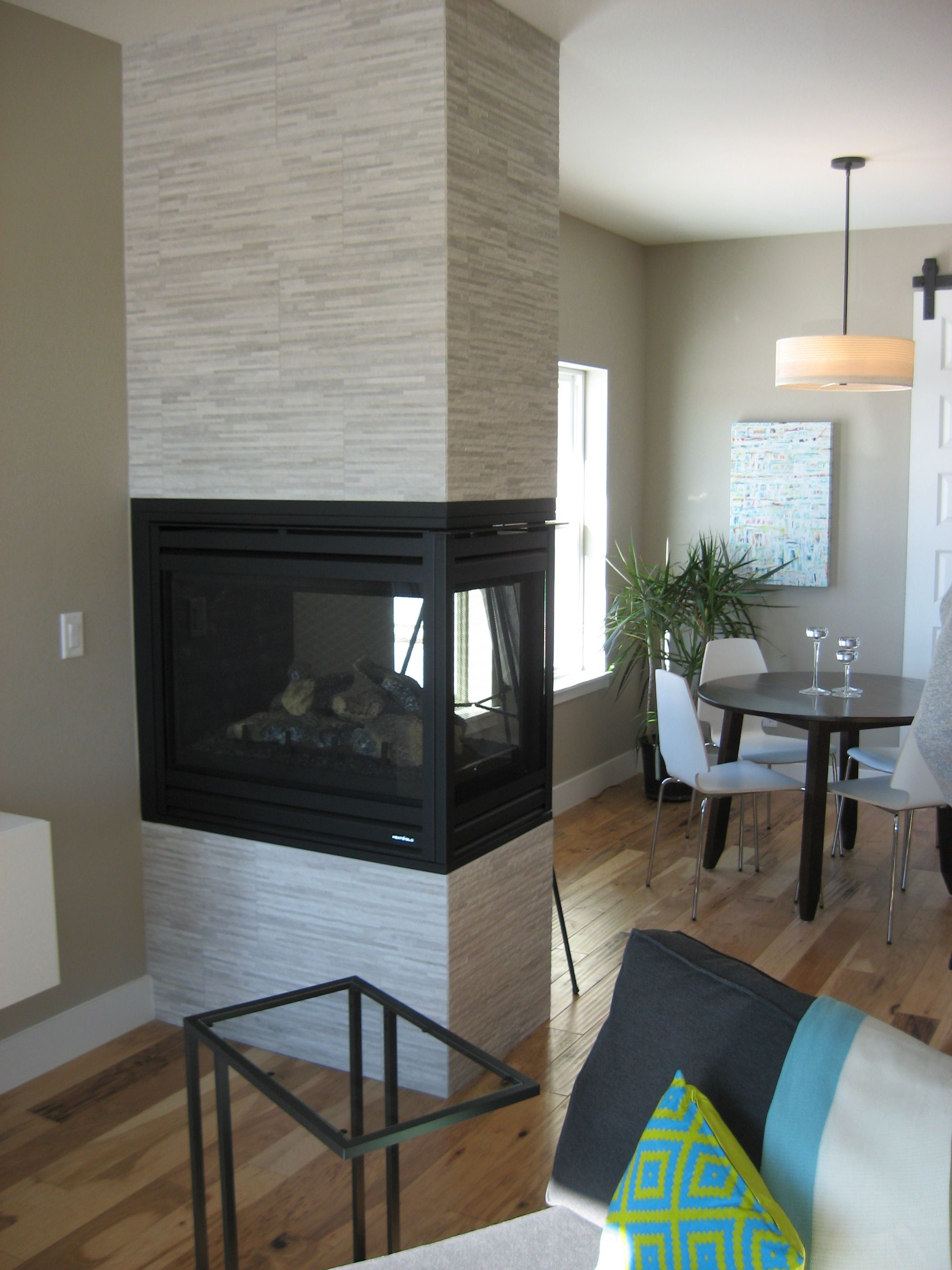 3 Sided Fireplace Focal Point Interior Room Fr