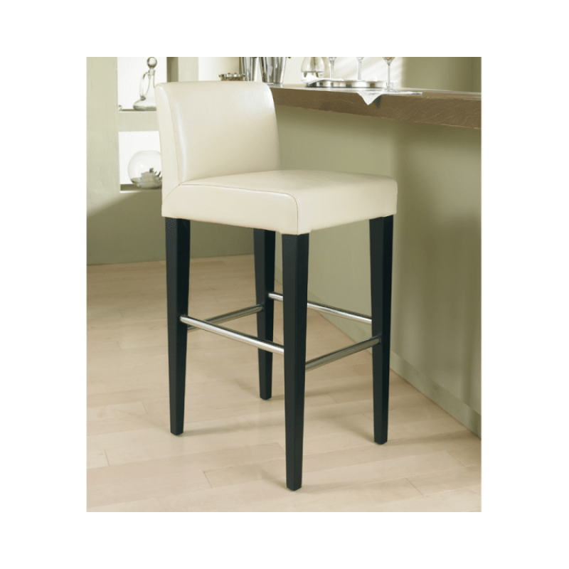 leather stools with back
