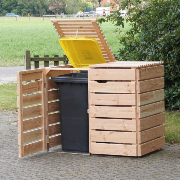Outdoor Trash Can Storage Ideas