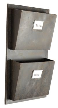 Amazon.com: Rustic Grey Metal Industrial Wall-Mounted Mail ...