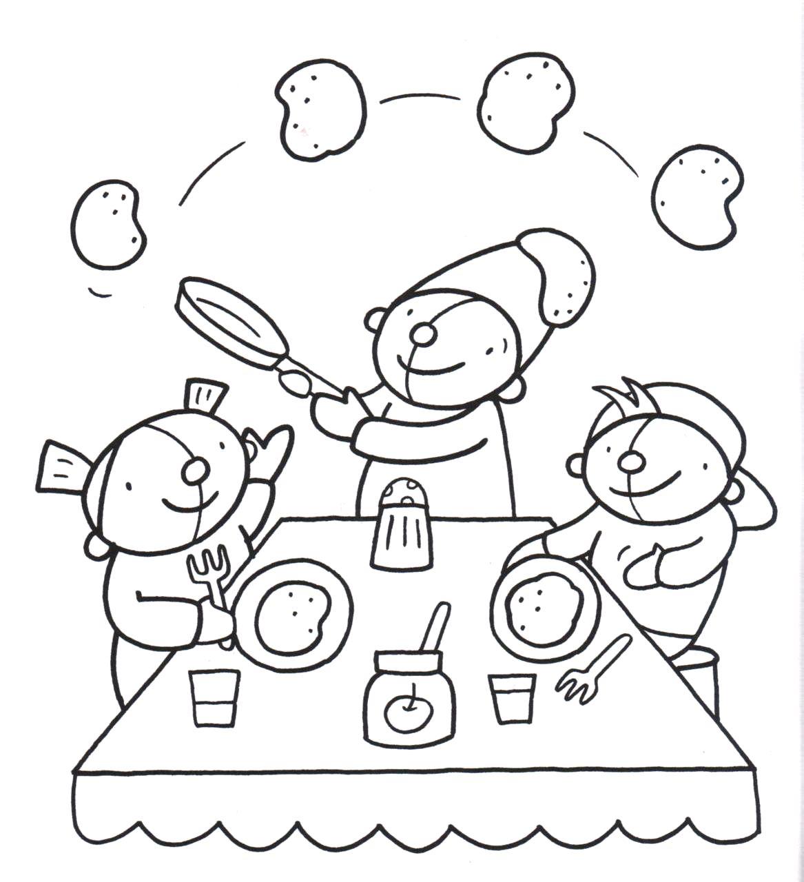 Kleurplaat Pompom Voeding