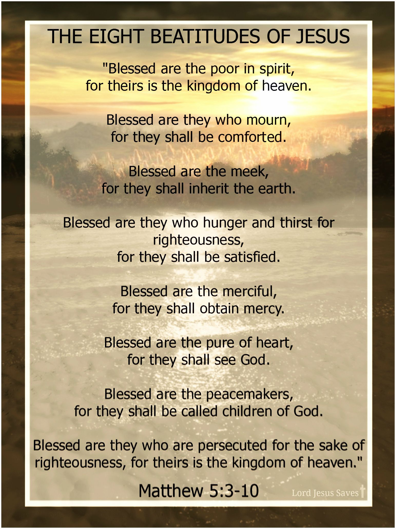 The 25 Best The Beatitudes Ideas