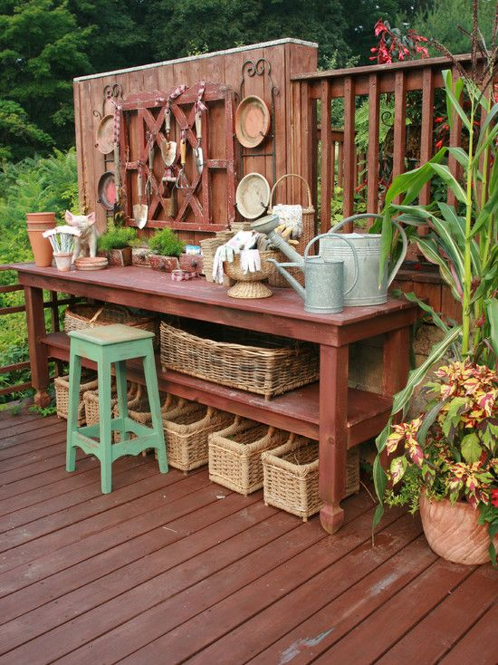 Rustic Potting Bench Stunning Beer Garden Table And Bench With