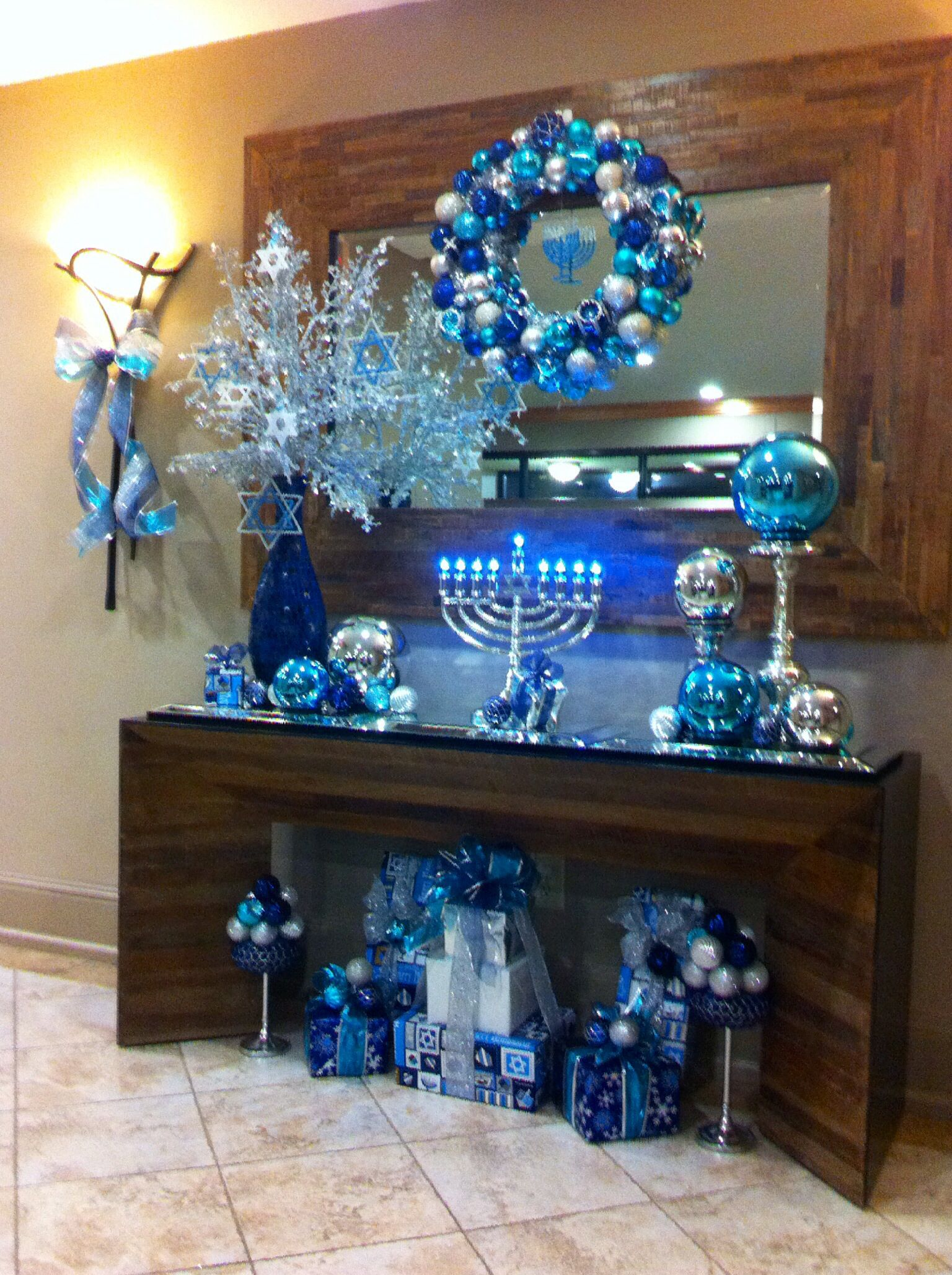 Hanukkah Decorations Really Like The Giant Glass Ball On The