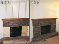 Faux stone panels for fireplace are an extremely ...