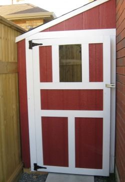 Lean To Shed Between House And Fence Pinteres
