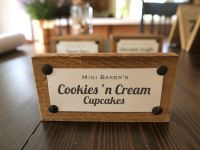 Set of 7 Wood Food Dessert Tags & Signs for Wedding Buffet ...