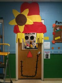 Scarecrow door decoration | For the Library | Pinterest ...
