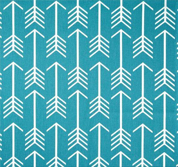 Modern Blue Arrow Fabric By The Yard Blue Modern Home Decor