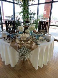 Burlap, rustic table decorations, shabby chic, wedding