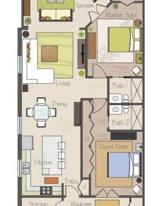 Not tiny but awesome small floor plan practically two suites and separated by their bathrooms plus  sunroom an open concept also pinterest plans rh uk