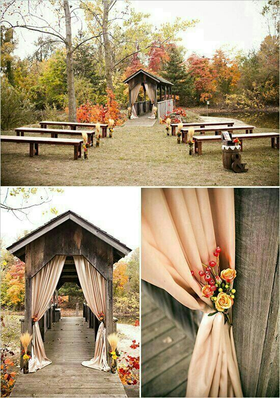 Fall Wedding Ideas  Ceremony Decor  Rustic Fall Wedding