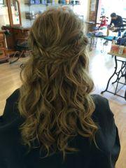 prom hair medium long