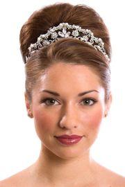 wedding hairstyles with tiara updo