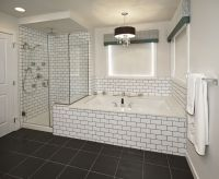 Subway Tile Bathroom Black Grout | Bathroom | Pinterest ...