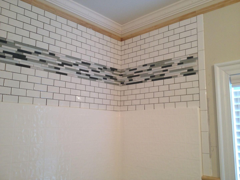Tile Above Fiberglass Shower Surround