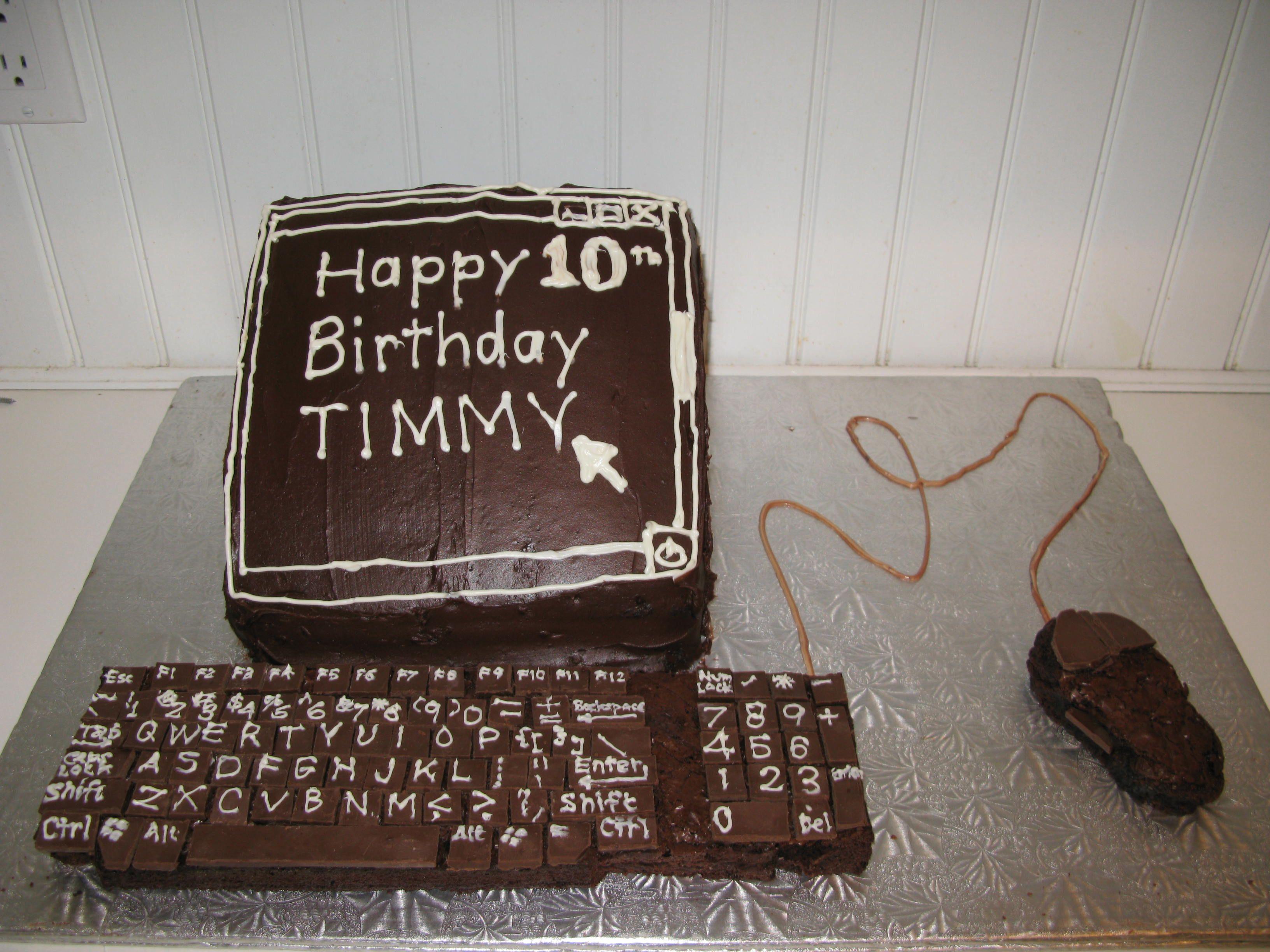 Computer Keyboard Keys Cake Ideas And Designs