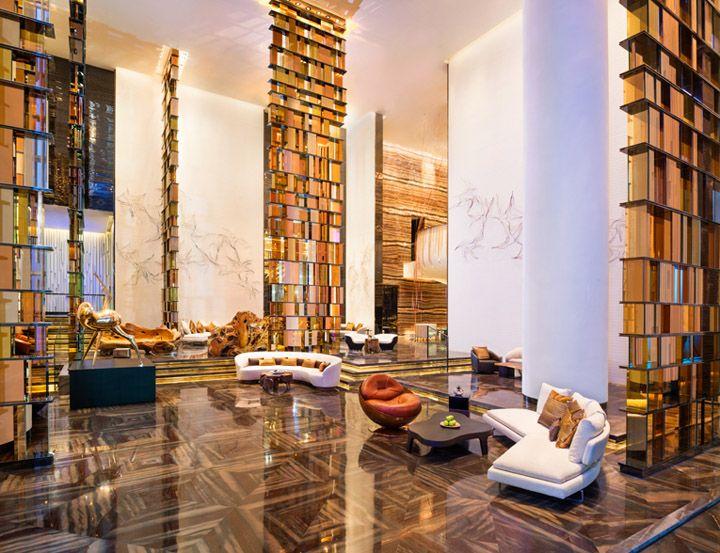 W Hotel By Rocco Design Architects Guangzhou China #LOBBY